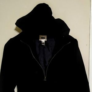 Old Navy black wool waist-length men's coat XL
